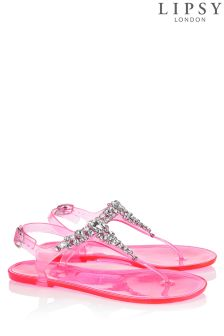 Lipsy Gloss Jewel Jelly Sandals