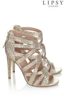 Lipsy Gold Glitter Sandal