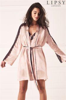 Lipsy Glam Lace Trim Robe