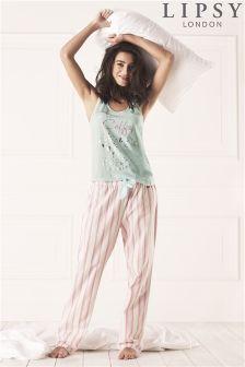 Lipsy Coffee Long Pyjama Set