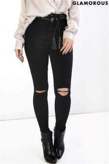 Glamorous Peties Ripped Skinny Jeans