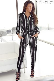 Lipsy Love Michelle Keegan Stripe Jumpsuit