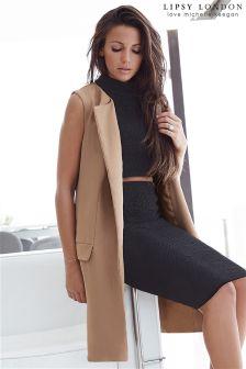 Lipsy Love Michelle Keegan Longline Sleeveless Jacket