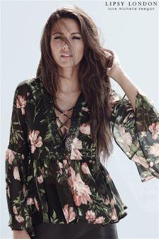 Lipsy Love Michelle Keegan Floral Boho Blouse