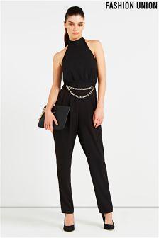 Fashion Union Chain Jumpsuit