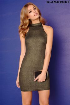 Glamorous Wet Look Bodycon Dress