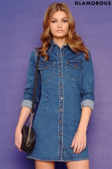 Glamorous Denim Button Down Dress