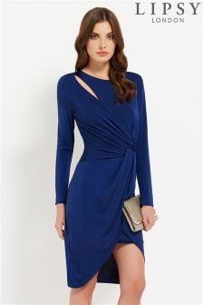 Lipsy Knot Front Cutout Dress
