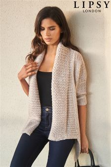 Lipsy Tweed Effect Shrug