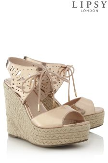 Lipsy Cut Out Detail Wedge Sandal