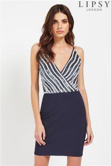 Lipsy Stripe Sequin Cami Dress
