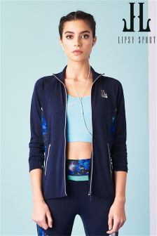 Lipsy Sport Zip Through Tech Print Hoody
