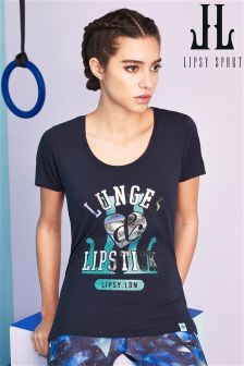 Lipsy Sport ' Lunges & Lipstick ' Tee