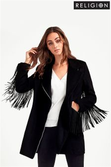 Religion Resplendent Fringed Coat