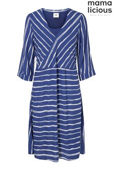 Mamalicious Striped Woven Nursing Dress