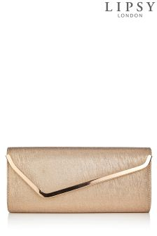 Lipsy Blush Metallic Clutch
