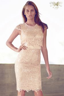 Lipsy VIP All Over Lace Sequin Shift Dress