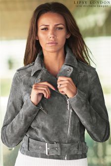 Lipsy Love Michelle Keegan Suede Buckle Biker Jacket