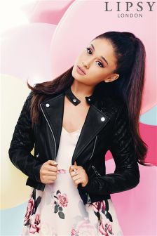 Ariana Grande For Lipsy Pu Biker Jacket