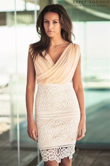 Lipsy Love Michelle Keegan Wrap Crochet Midi Dress