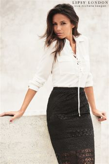 Lipsy Love Michelle Keegan Lace Pencil Skirt