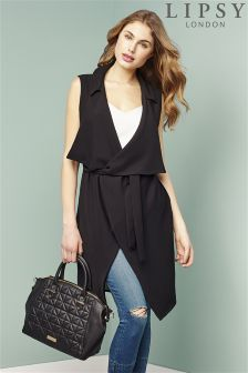 Lipsy Sleeveless Waterfall Jacket