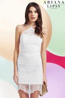 Ariana Grande For Lipsy Scallop Lace Bodycon Dress