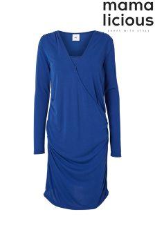 Mamalicious Maternity Nursing Long Sleeve Wrap Dress