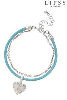 Lipsy Heart Friendship Bracelet