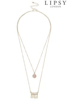 Lipsy Layer Gem Row Necklace