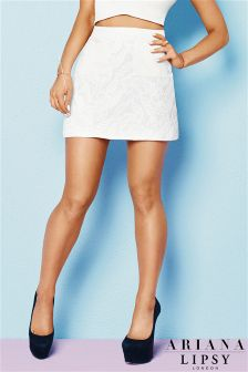 Ariana Grande For Lipsy Lace Mini Skirt