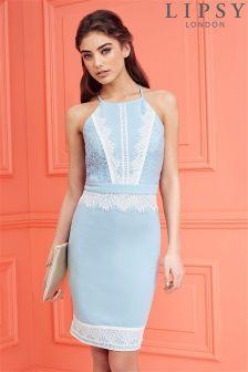 Lipsy Lace Detail Apron Dress