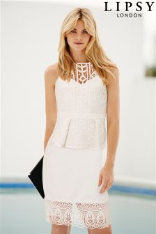 Lipsy All Over Lace Peplum