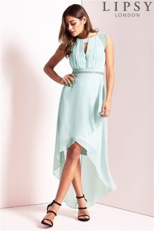 Lipsy High Neck Embellished Waist Dress
