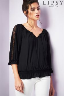 Lipsy Gypsy 3/4 Length Sleeve Top