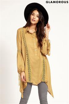 Glamorous Tassel Shirt Dress