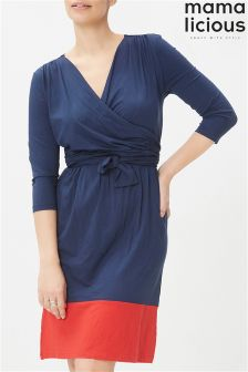 Mamalicious Maternity Contrast Jersey Dress