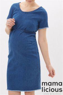 Mamalicious Maternity Denim Dress
