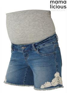Mamalicious Maternity Denim Shorts