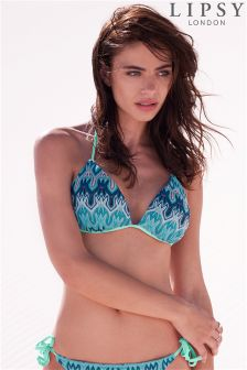 Lipsy Zig Zag Bikini Top