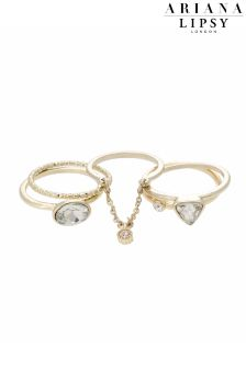 Ariana Grande For Lipsy Crystal Stacking Rings