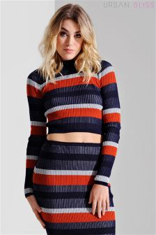 Urban Bliss Plated Rib Knit Crop Jumper