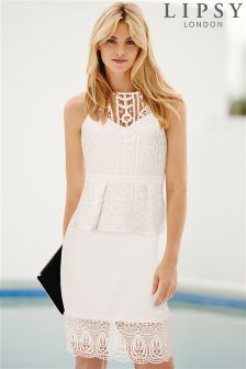 Lipsy Lace Bottom Pencil Skirt