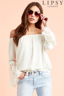 Lipsy Bardot Embroidered Blouse