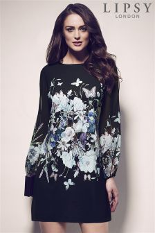 Lipsy Floral Split Sleeve Shift