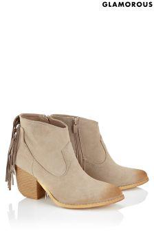 Glamorous Tassel Back Boots