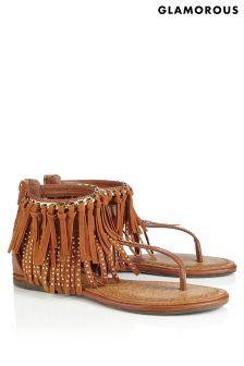 Glamorous Fringe Sandals