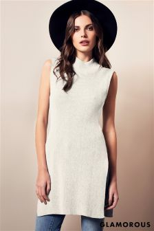 Glamorous High Neck Knitted Dress