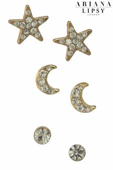 Ariana Grande For Lipsy Star And Moon Stud Set