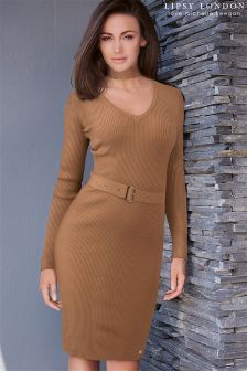 Lipsy Love Michelle Keegan Detachable Neck Tie Dress